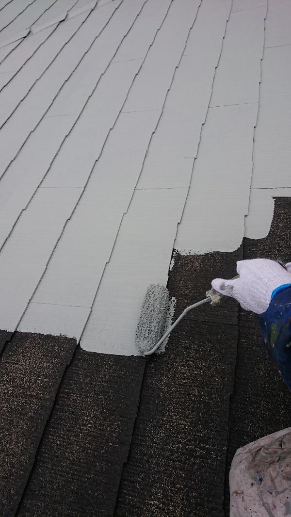 千葉県市川市 屋根塗装 高圧洗浄 ケレン 断熱塗料ガイナ タスペーサー