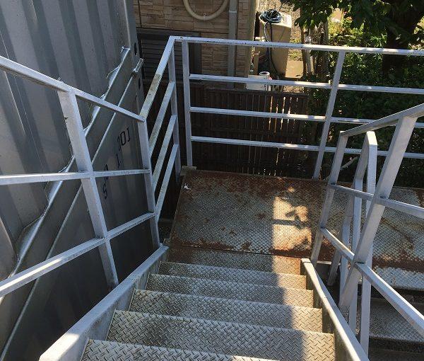 千葉県白井市 外壁塗装 付帯部塗装 鉄骨階段 事前調査