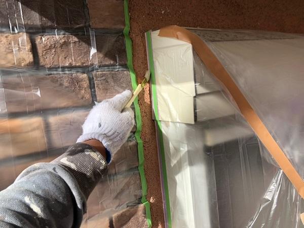 千葉県習志野市 外壁塗装 付帯部塗装 雨戸 下地処理 オートンイクシード