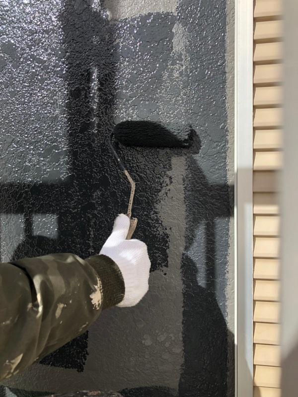 千葉県白井市 外壁塗装 付帯部塗装 鉄骨階段 日本中央研究所 アドグリーンコート