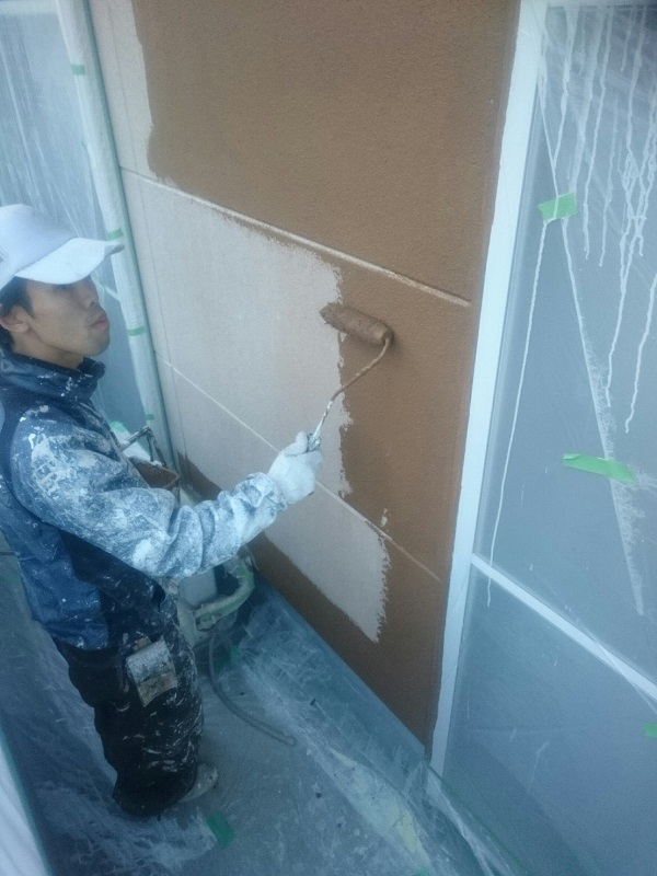 千葉県船橋市 外壁塗装 下地処理 無機系塗料 ダイヤスーパーセランフレックス