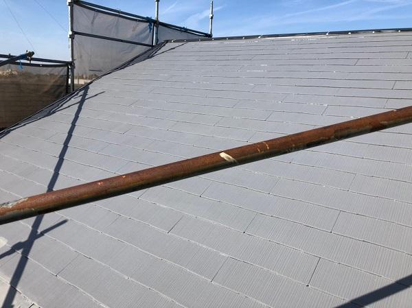 千葉県船橋市 屋根塗装 雨漏り 縁切り タスペーサー 低汚染型フッ素樹脂塗料 セミフロンルーフⅡ