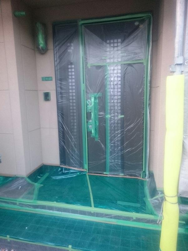 千葉県鎌ケ谷市 外壁塗装 屋根塗装 下地処理 養生