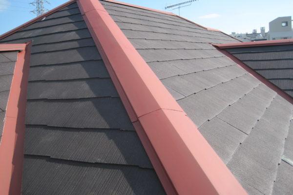 千葉県船橋市 屋根塗装 棟板金 サビ 雨漏り