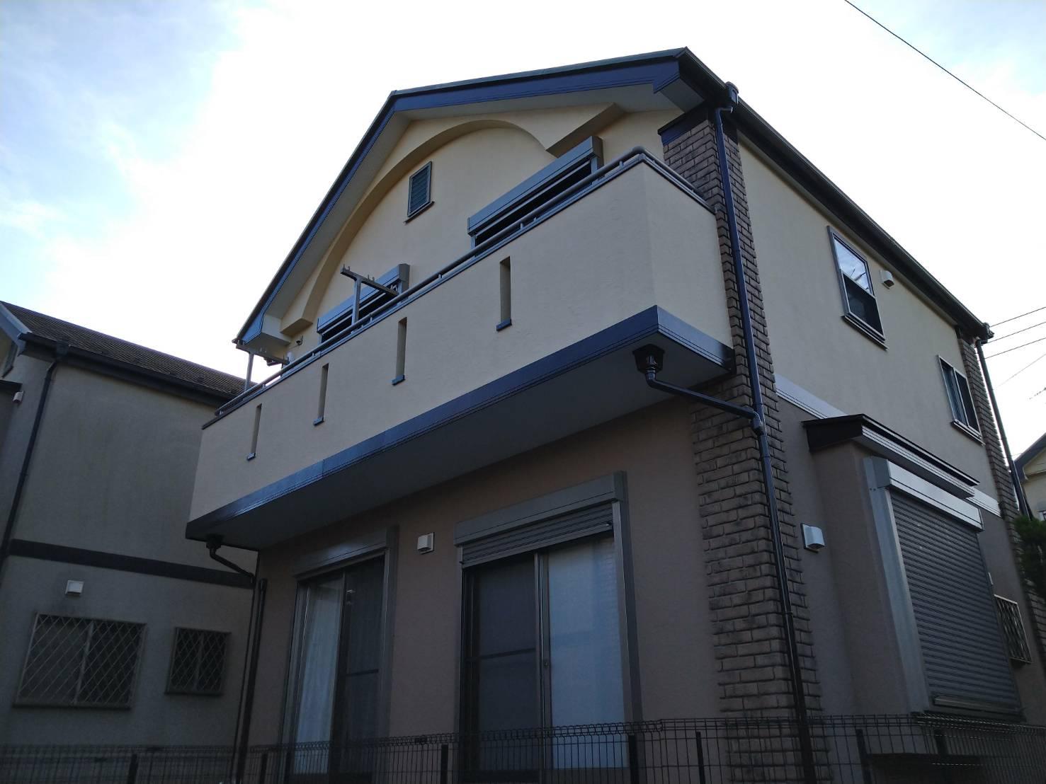 千葉県船橋市西船M邸のジョリパットインフィニティ外壁塗装工事