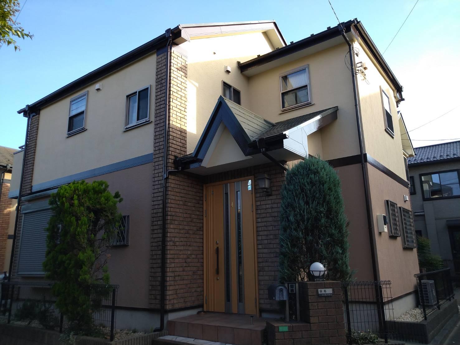 千葉県船橋市西船のM様邸の外壁塗装工事