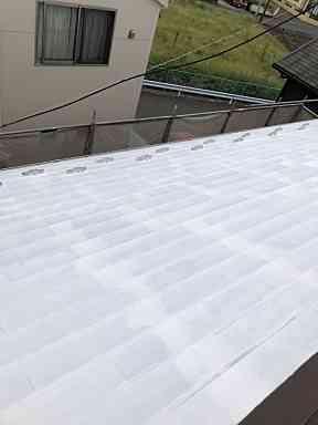 金属屋根塗装の画像