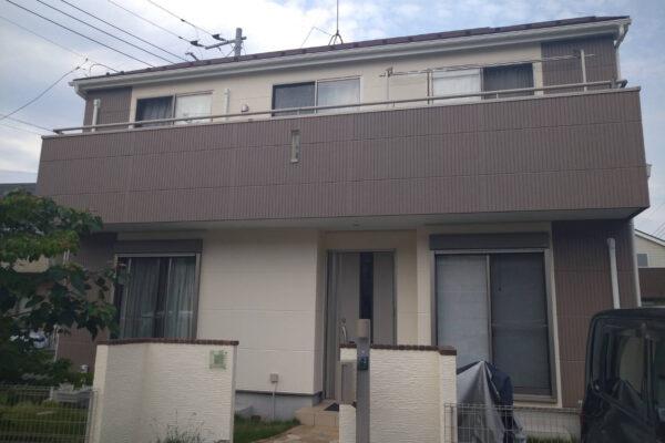 千葉県白井市 Y様邸 外壁塗装 付帯部塗装 ダイフレックス:スーパーセランフレックス