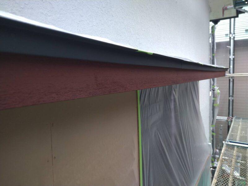 庇 木部塗装